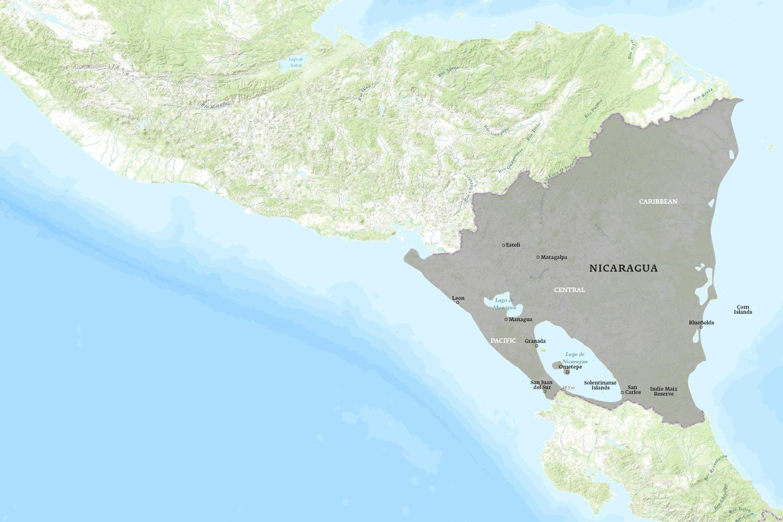 Nicaragua When to Go Map - November