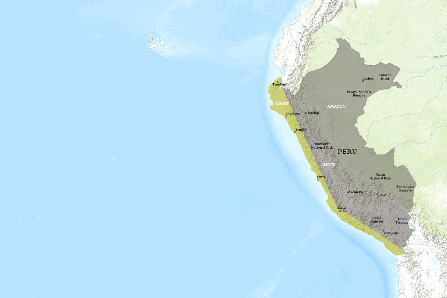 Peru When to Go Map - January