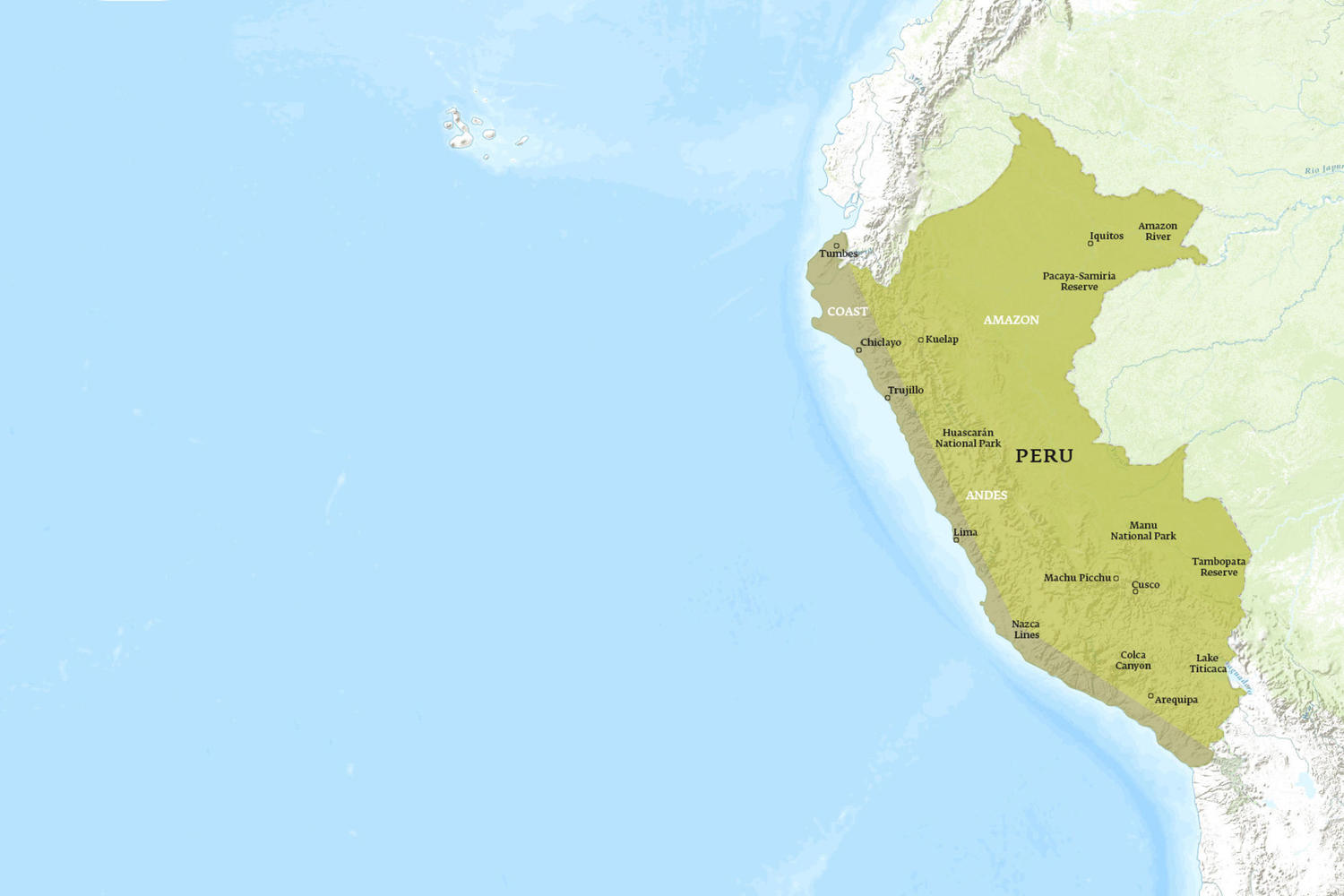 Peru When to Go Map - August