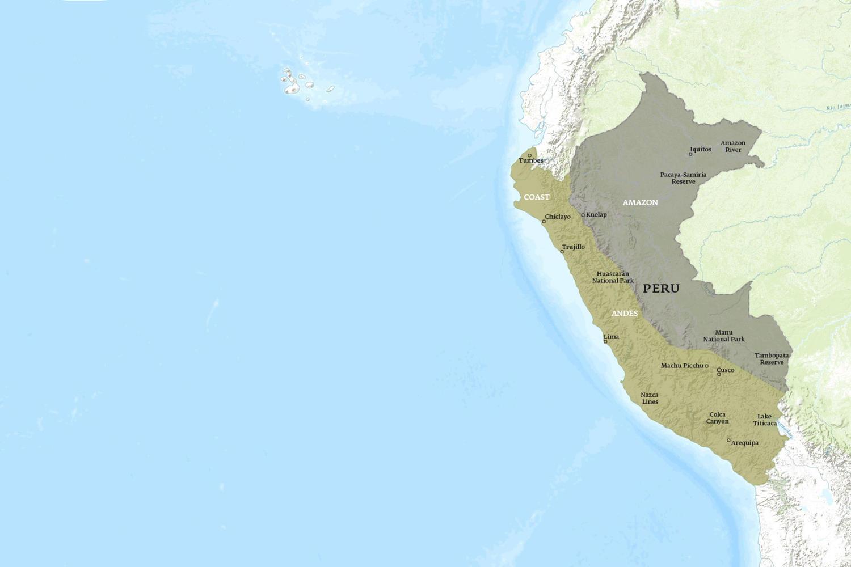 Peru When to Go Map - November