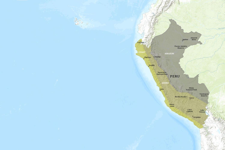Peru When to Go Map - December