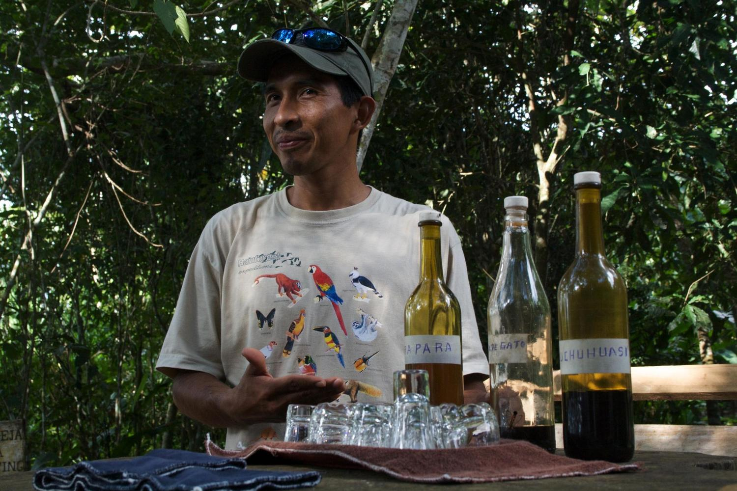 Tasting traditional potions in the Amazon