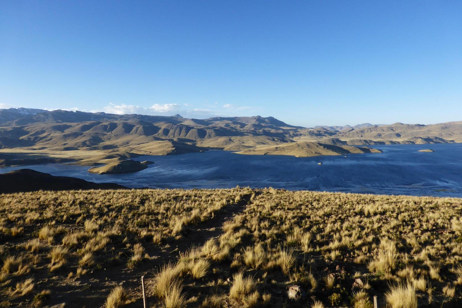 High lagoon in the Altiplano outside Arequipa, Peru