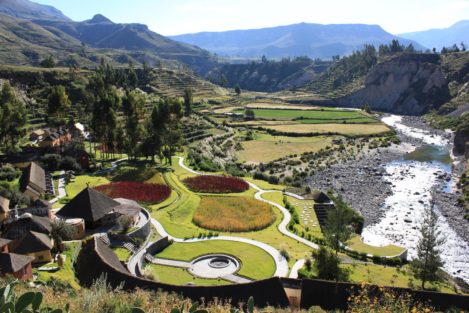 View of the Colca Lodge