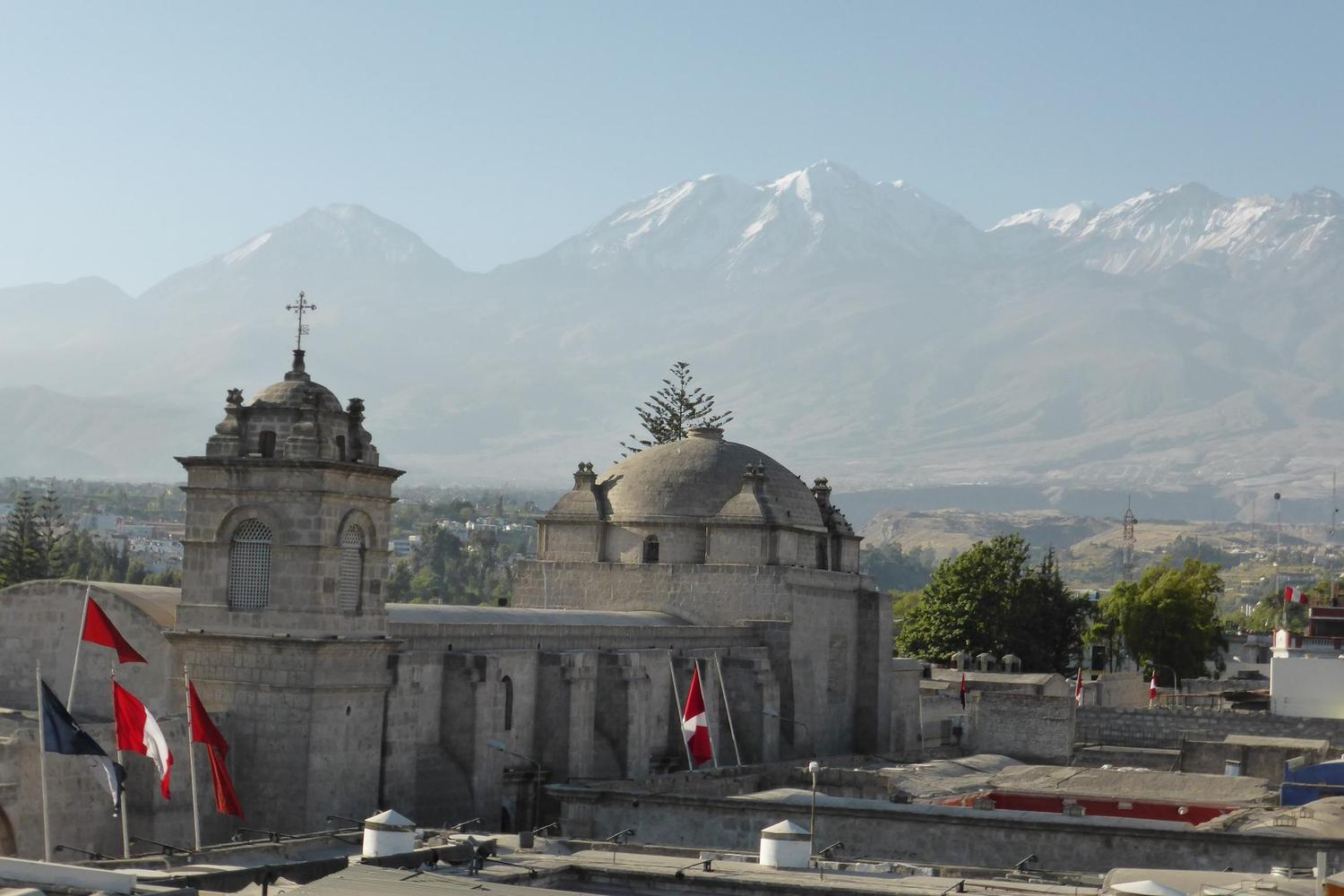 Arequipa is famous for its mild climate and beautiful setting