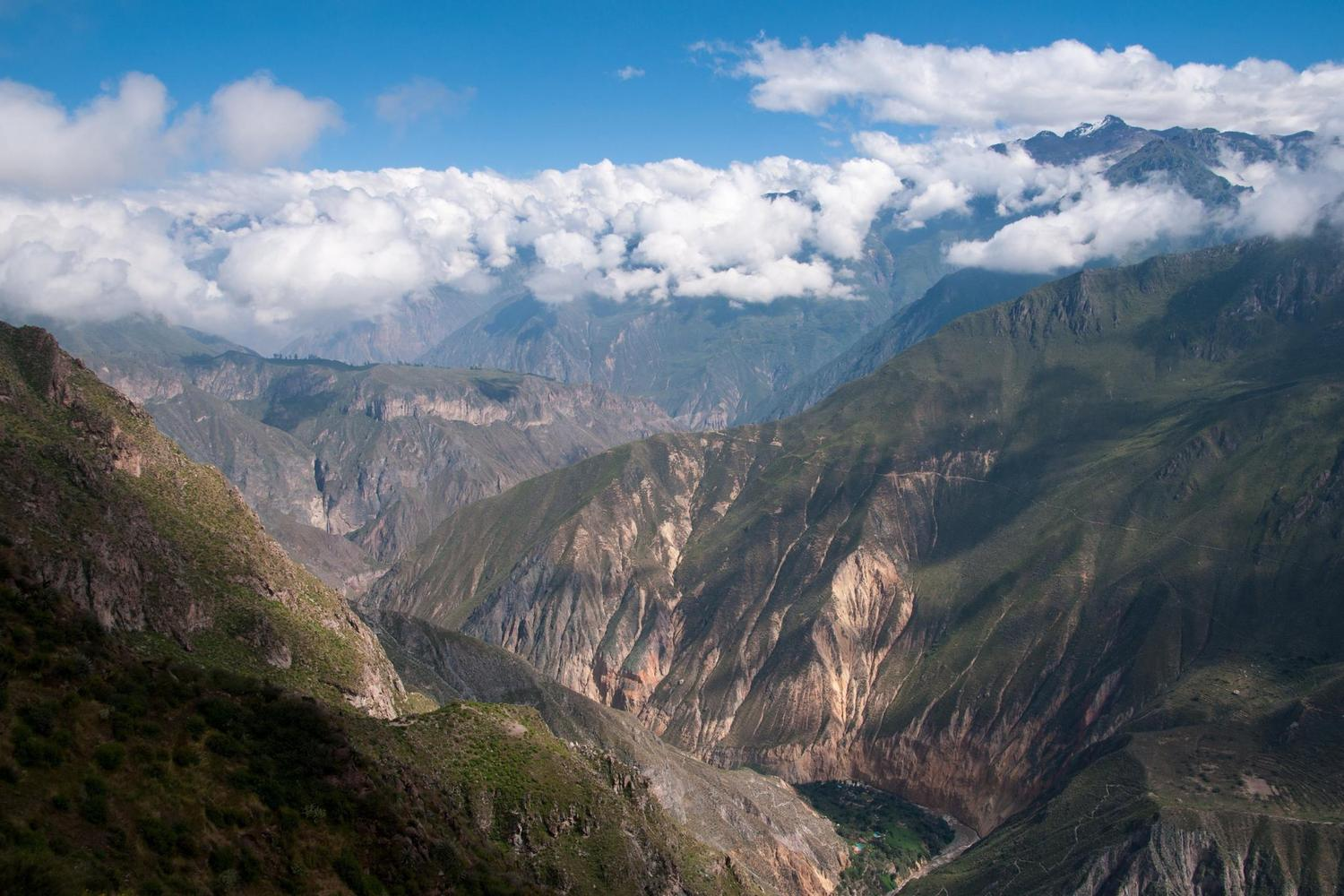 The deep and beautiful Colca Canyon