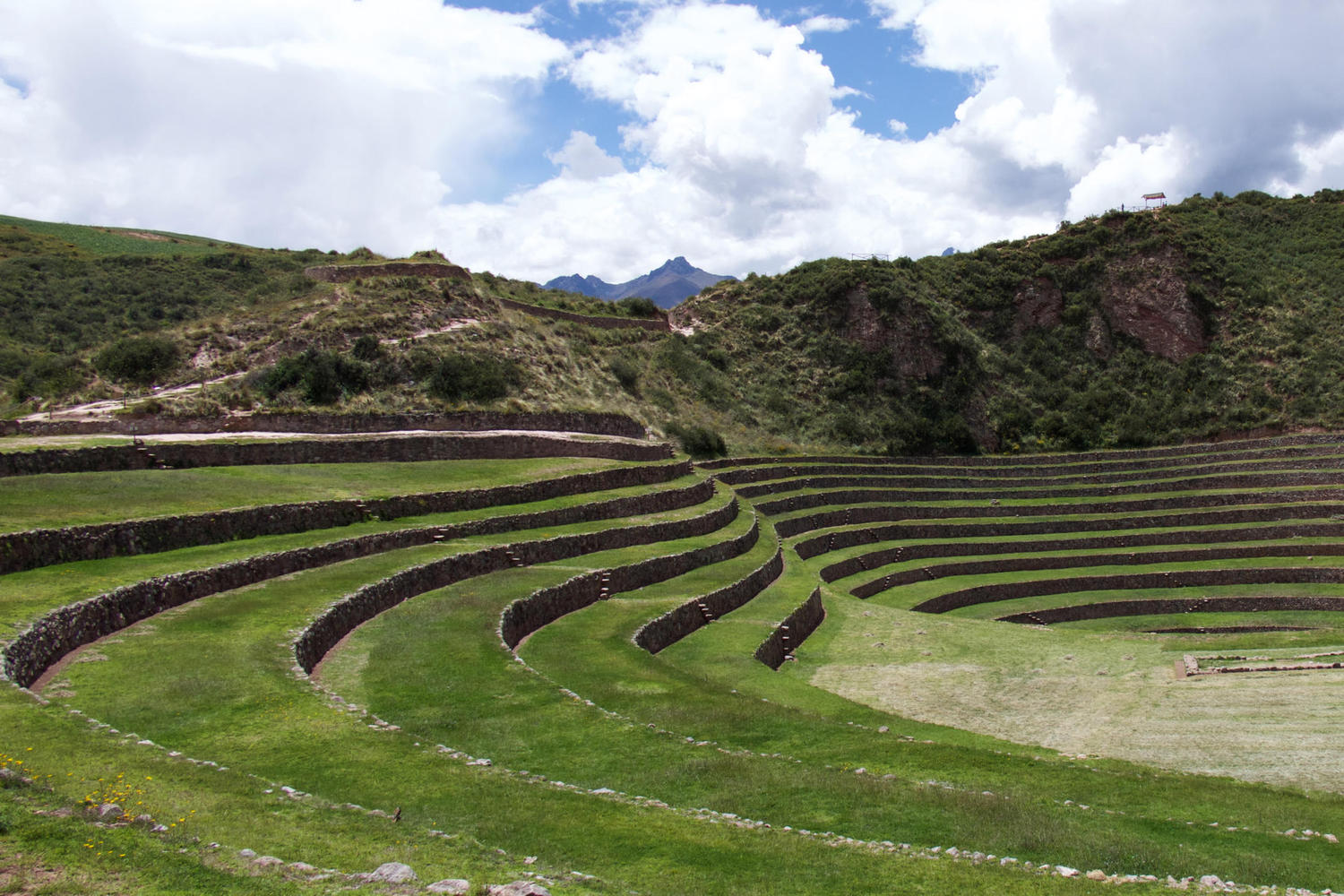 The deep circular terraces at Moray are believed to have been used to grow crops from a range of climates