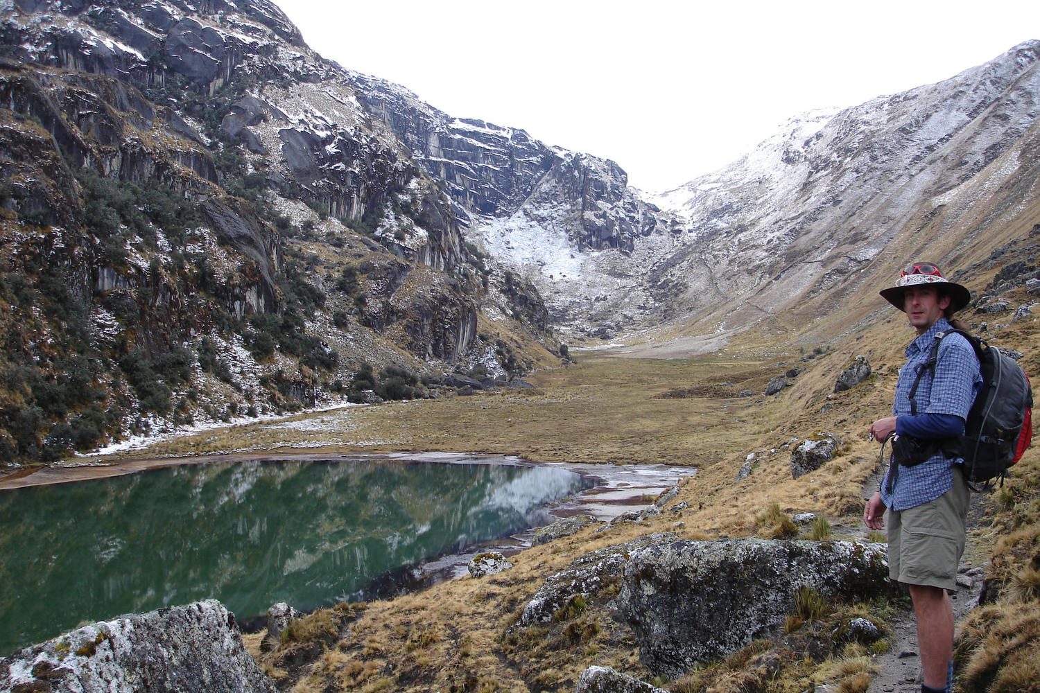 Hike past lakes and snowy peaks on the Lares Trail