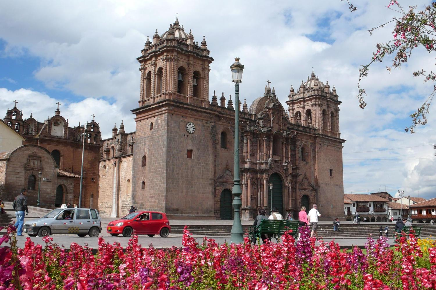 The Plaza de Armas and cathedral in Cusco