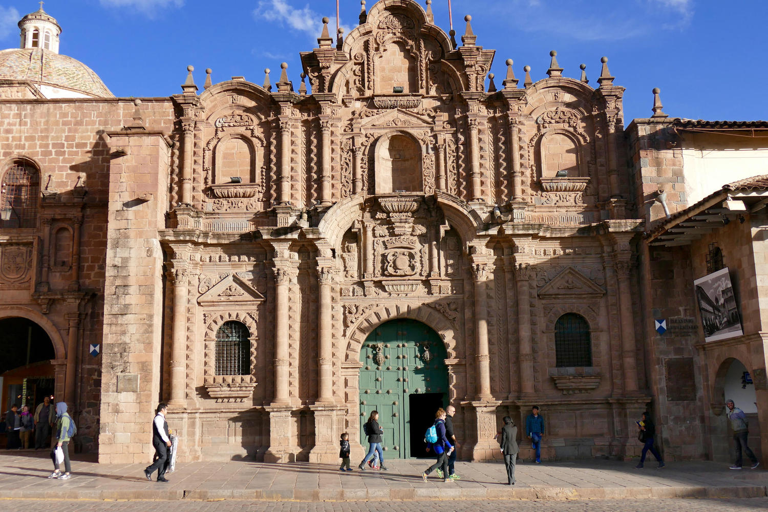 The Iglesia de la Compania de Jesus, on Cusco's Plaza de Armas