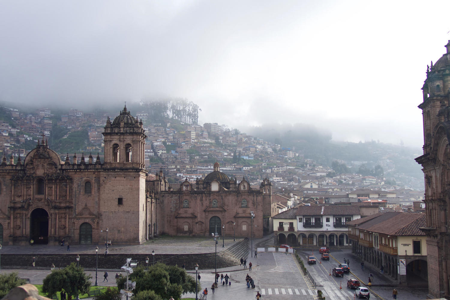 Morning light over Cusco's Plaza de Armas