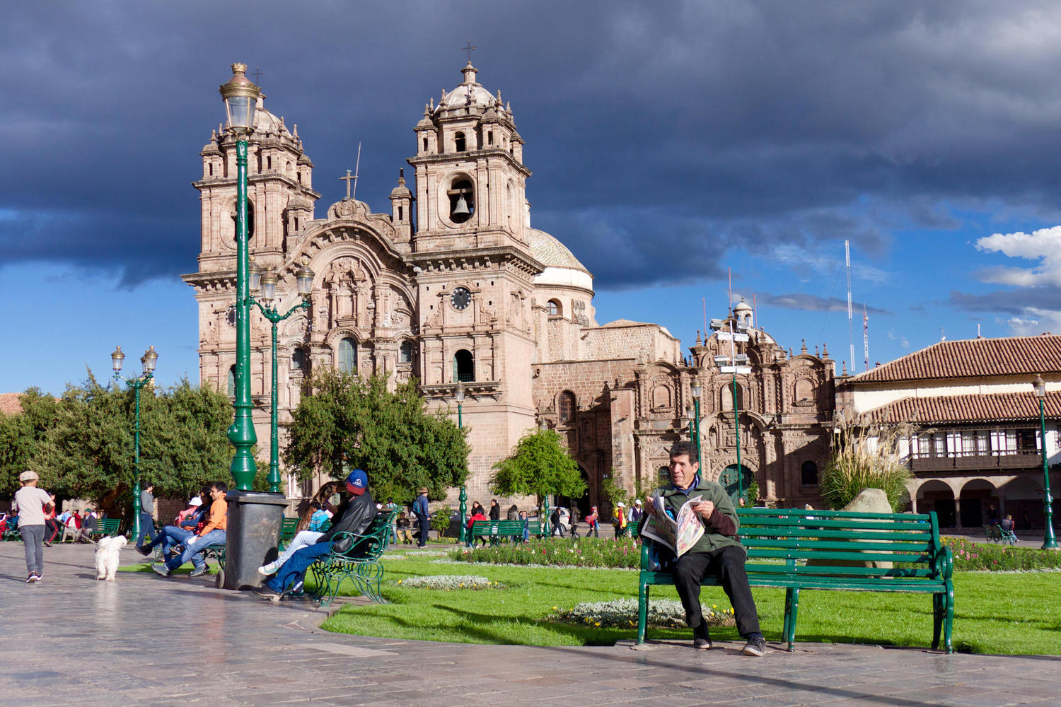 Cusco's bustling main square, the Plaza de Armas