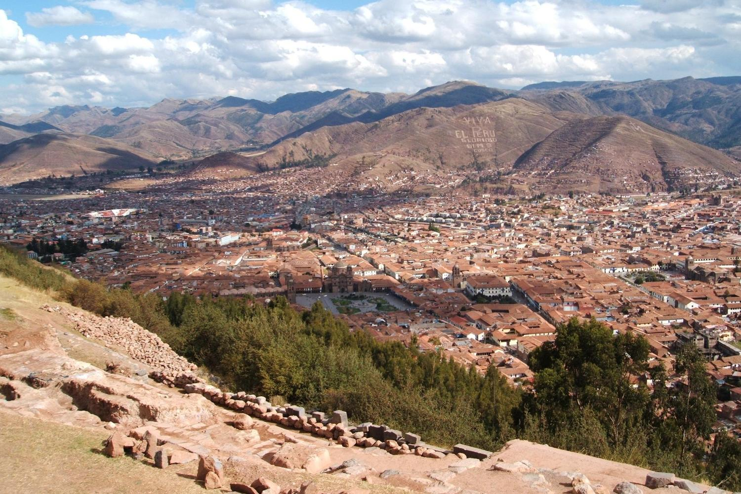 Views over Cusco from the ruins of sacsayhuaman