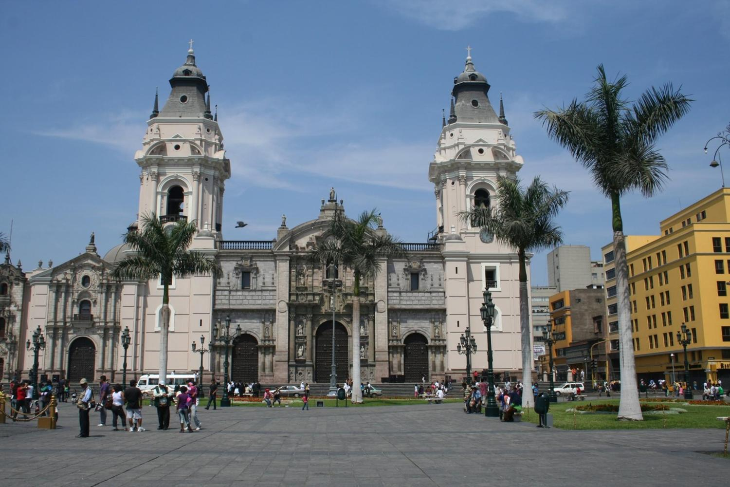Lima's cathedral, set within the UNESCO-listed colonial downtown