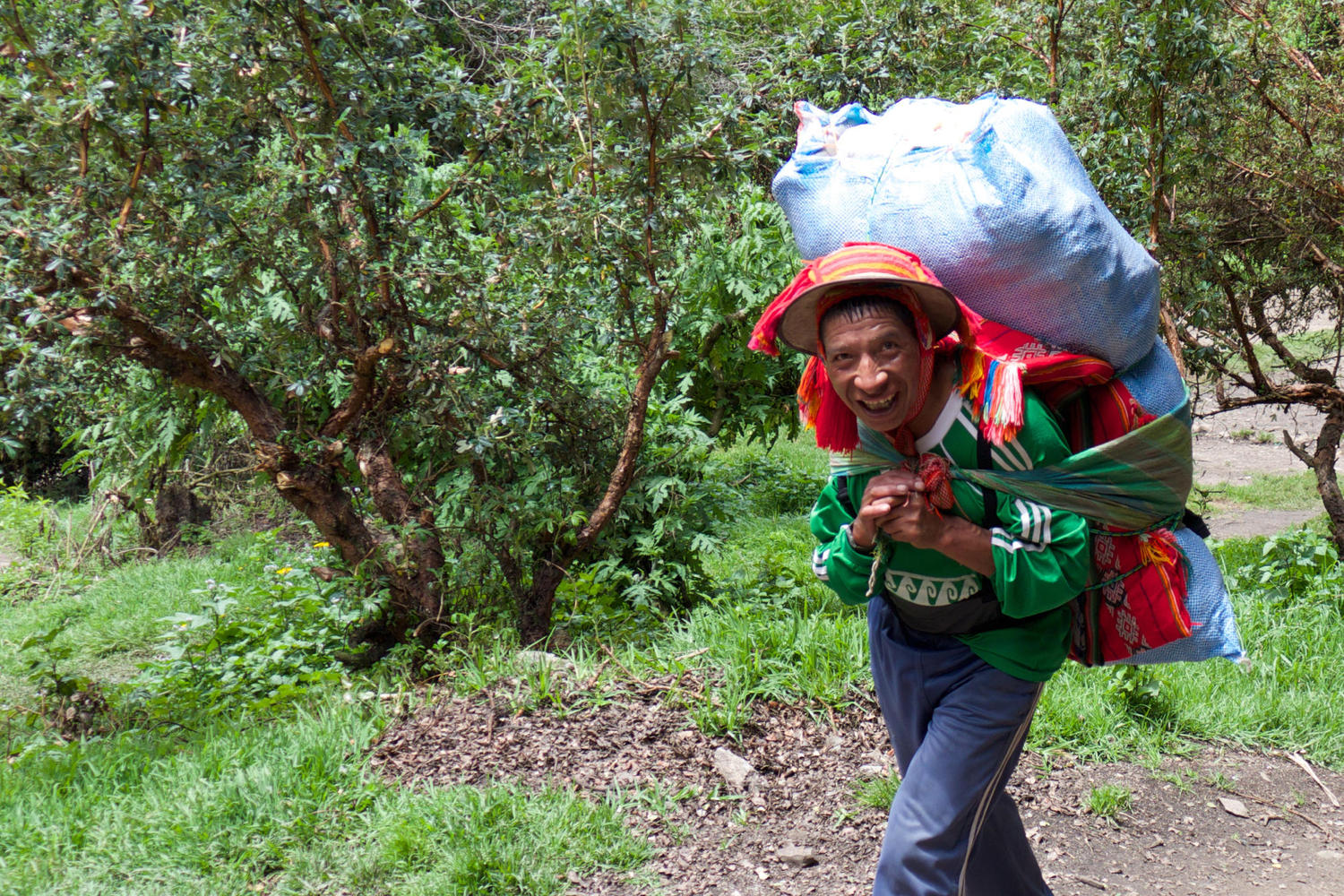 Local porters follow in the footsteps of Inca messengers