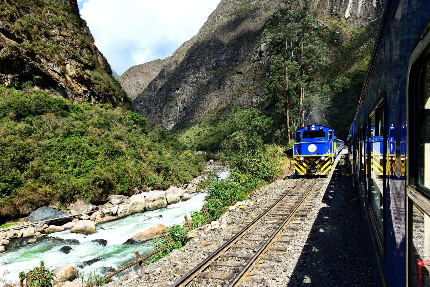 The railway to Machu Picchu