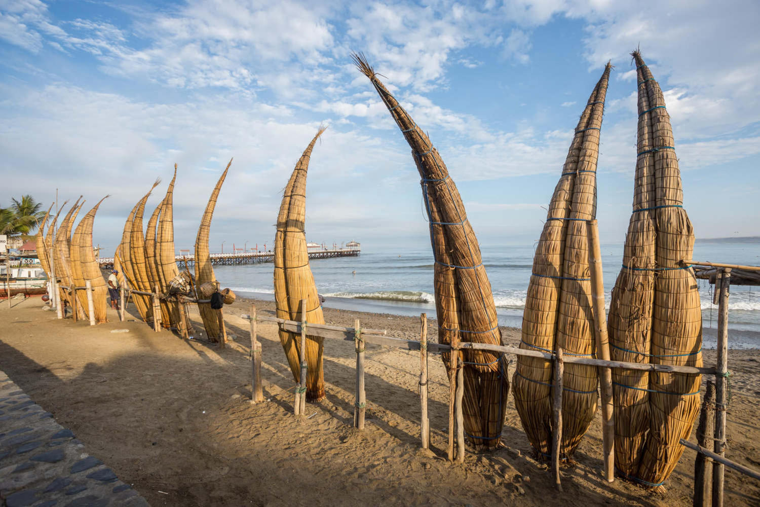 Caballitos de Totora reed watercrafts in Huanchaco