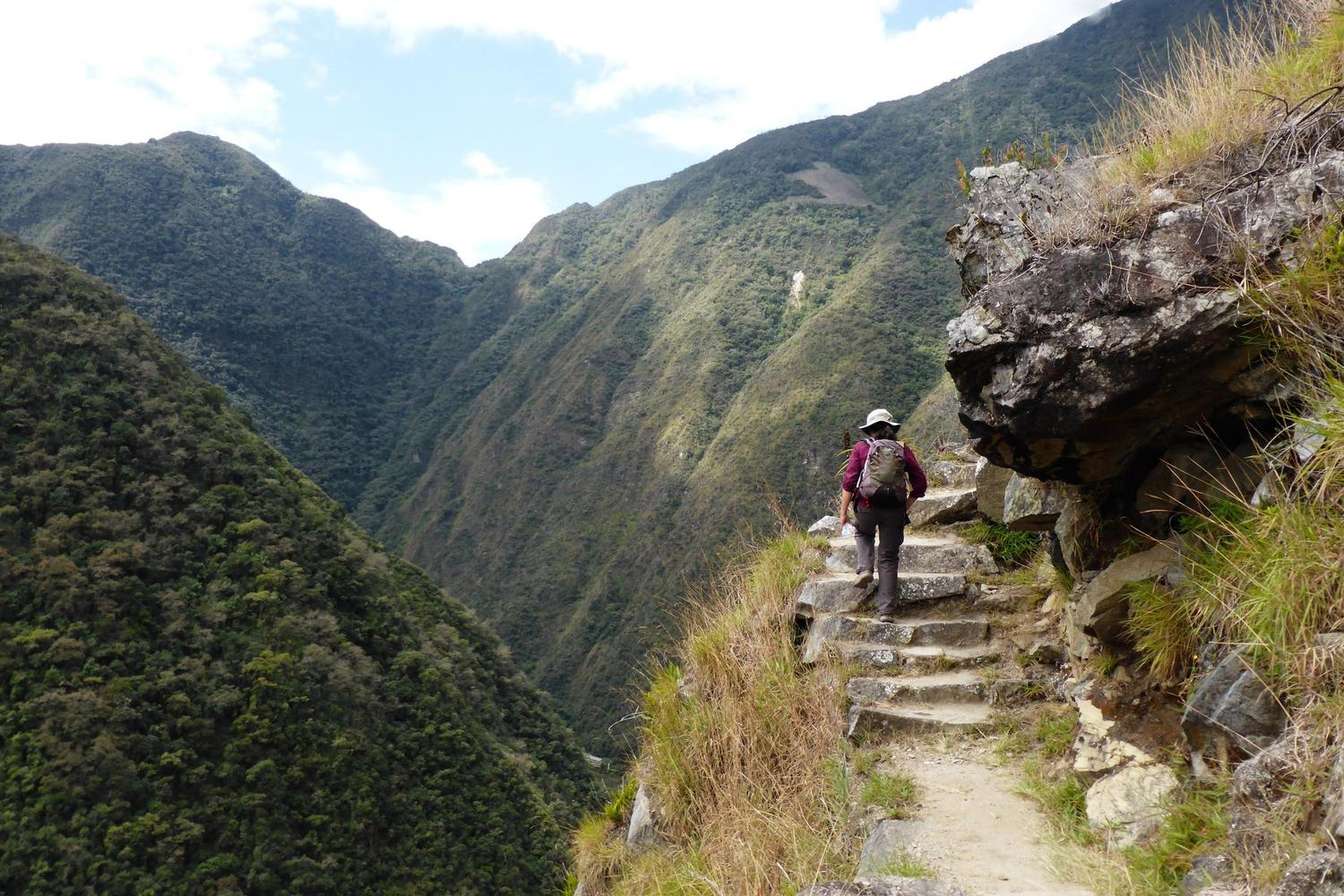 Walking the one-day Royal Inca trail to Machu Picchu