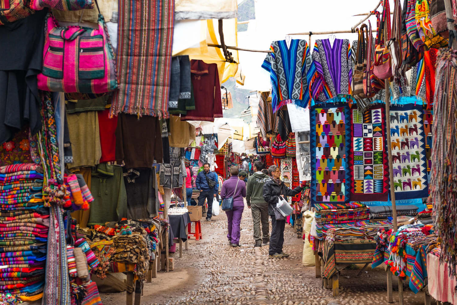 Pisac Market in the Sacred Valley