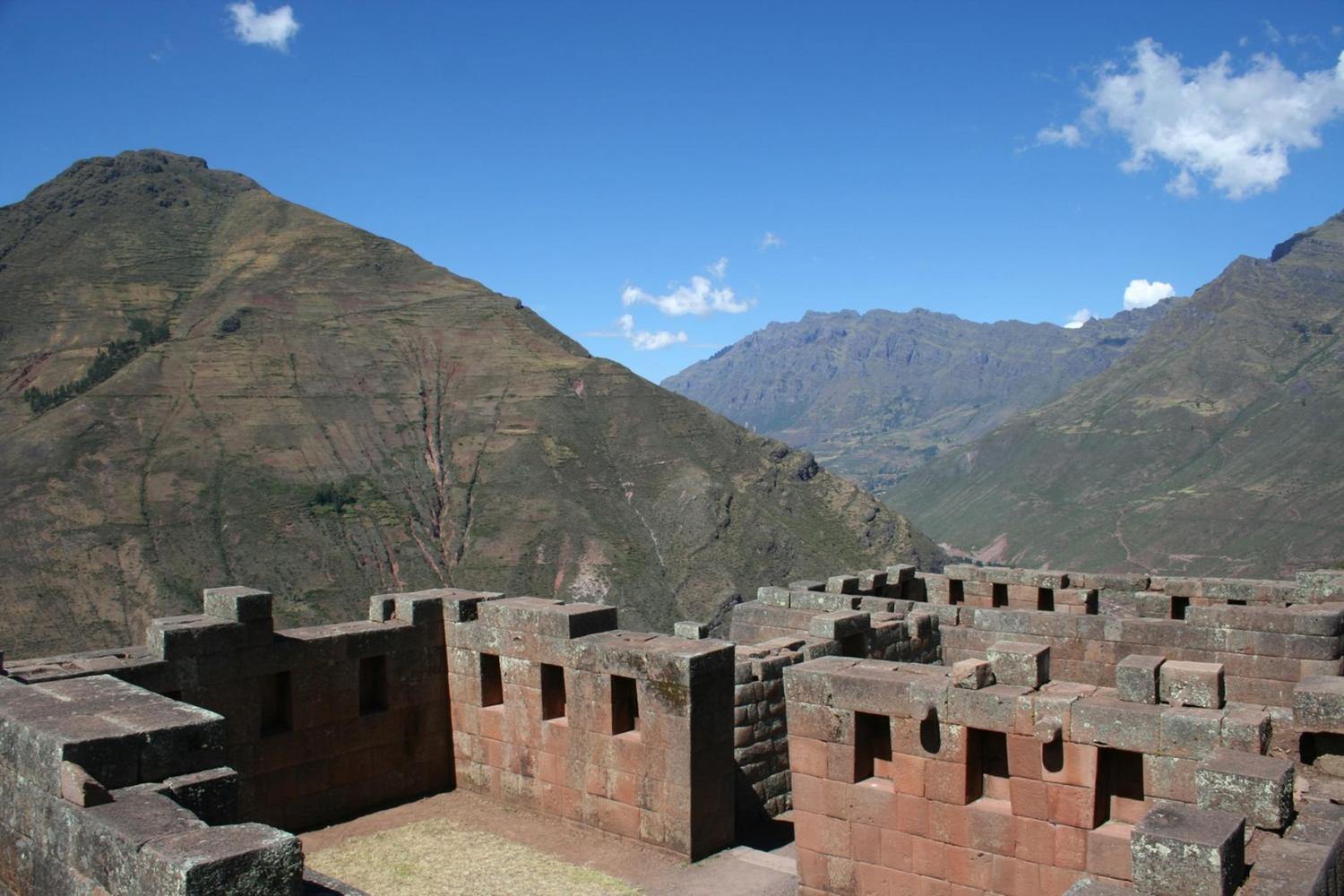 Impressive Inca architecture at Pisac, a city whose hilltop location commands incredible views over the Sacred Valley