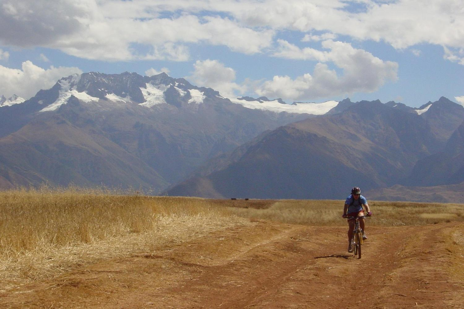 Downhill mountain biking in the Sacred Valley, Peru