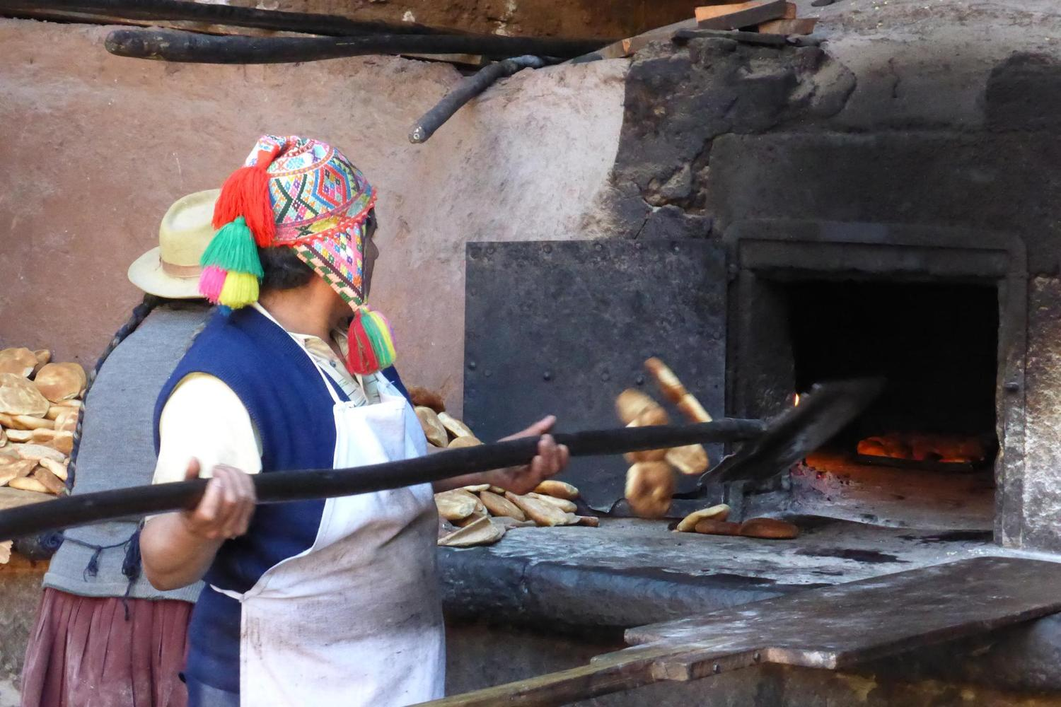 Traditional bread making in the Sacred Valley