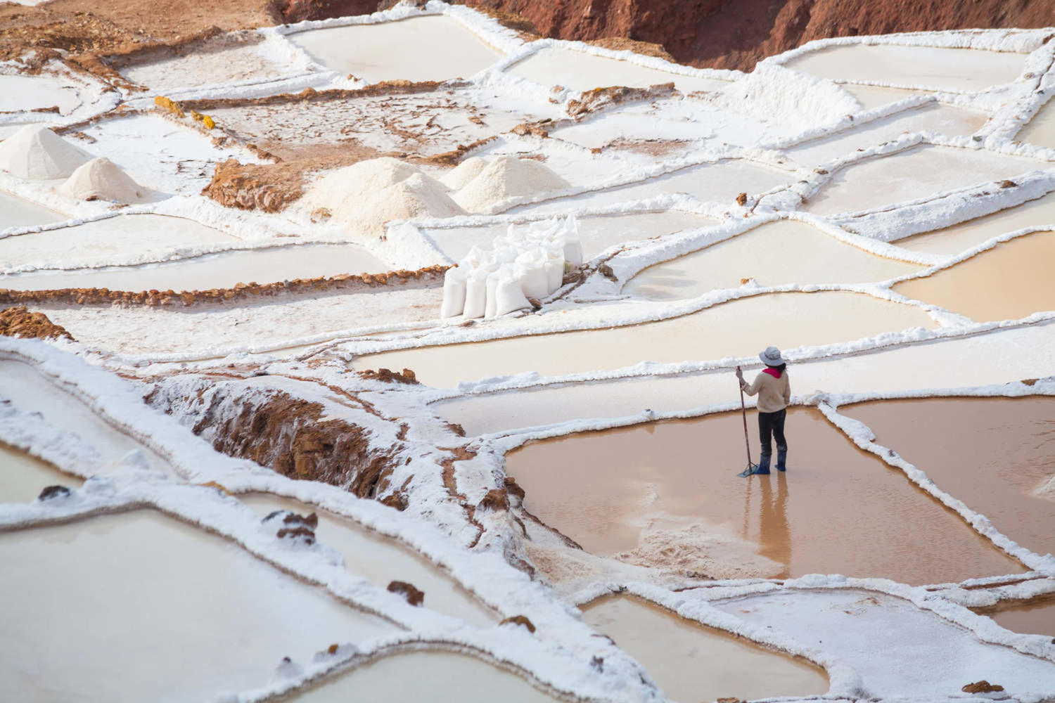 Salt pans of Maras in the Sacred Valley