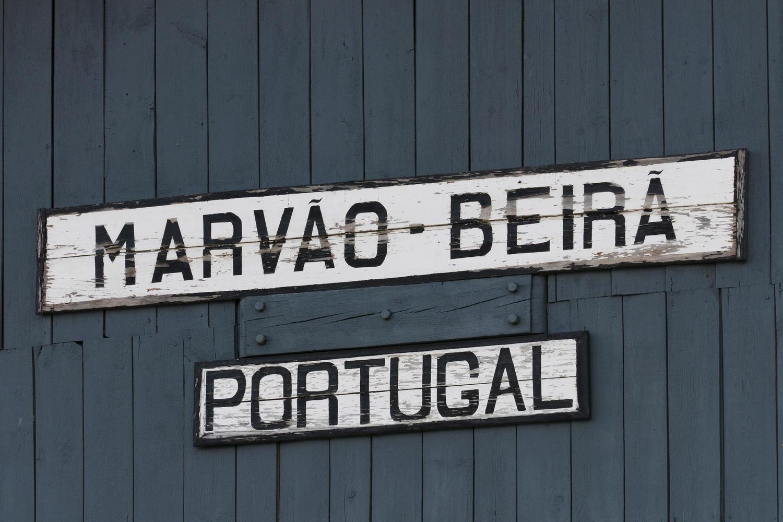 Station sign at the start of the Alentejo inn to inn walk