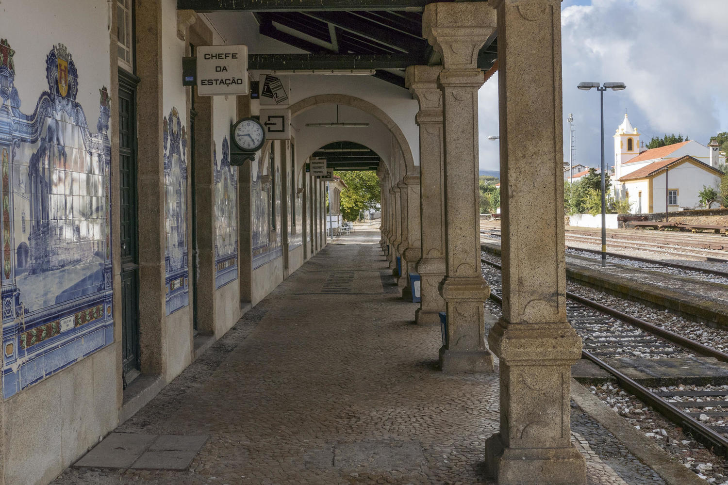 The train station of Beira