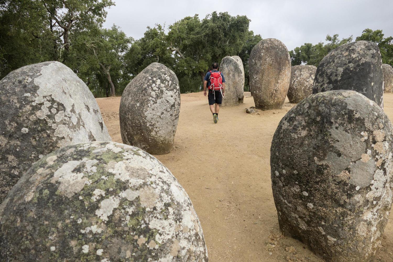 The prehistoric Cromlech dos Almendres