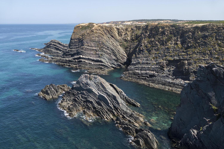 Dramatic cliffs on the Alentejo coast