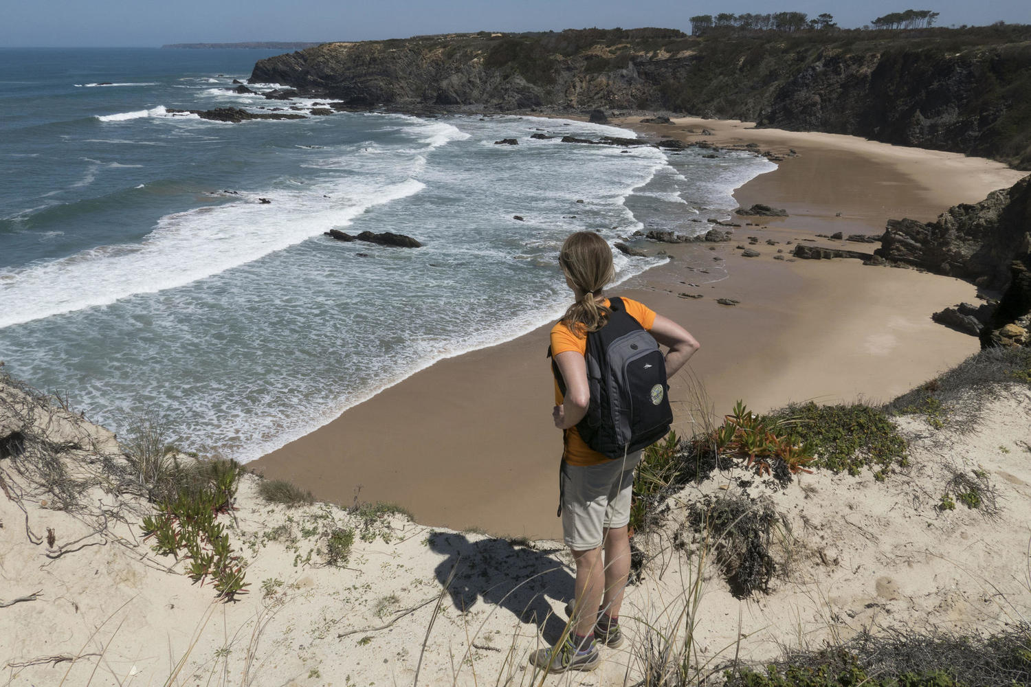 A stop to enjoy the views along the Rota Vicentina