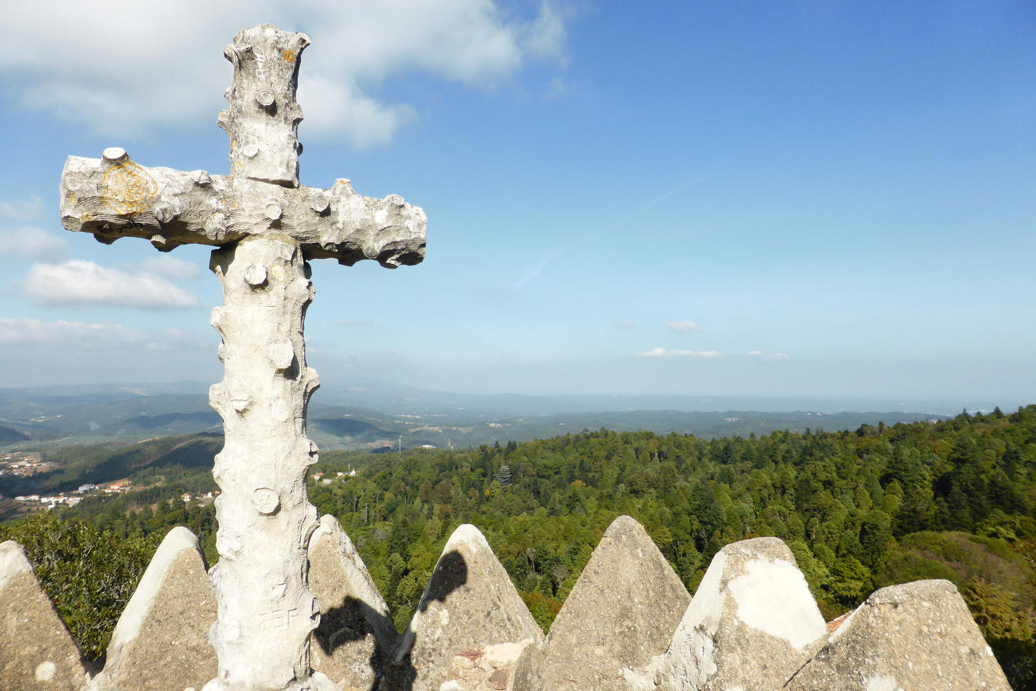 The Cruz Alta (High Cross) in the forest above Bussaco Palace