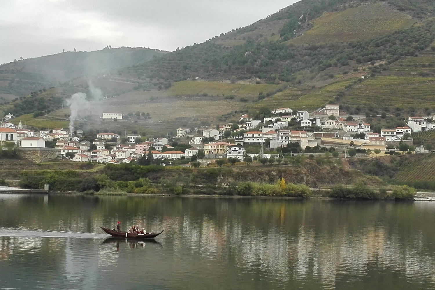 Douro river from the terrace of the DOC restaurant