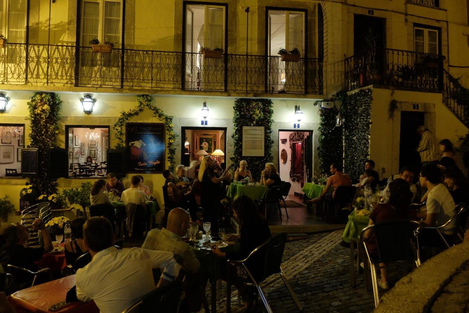 Fado night show in the Alfama neighborhood