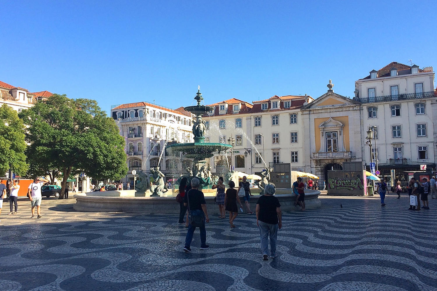 Pretty square on a sunny day in Lisbon