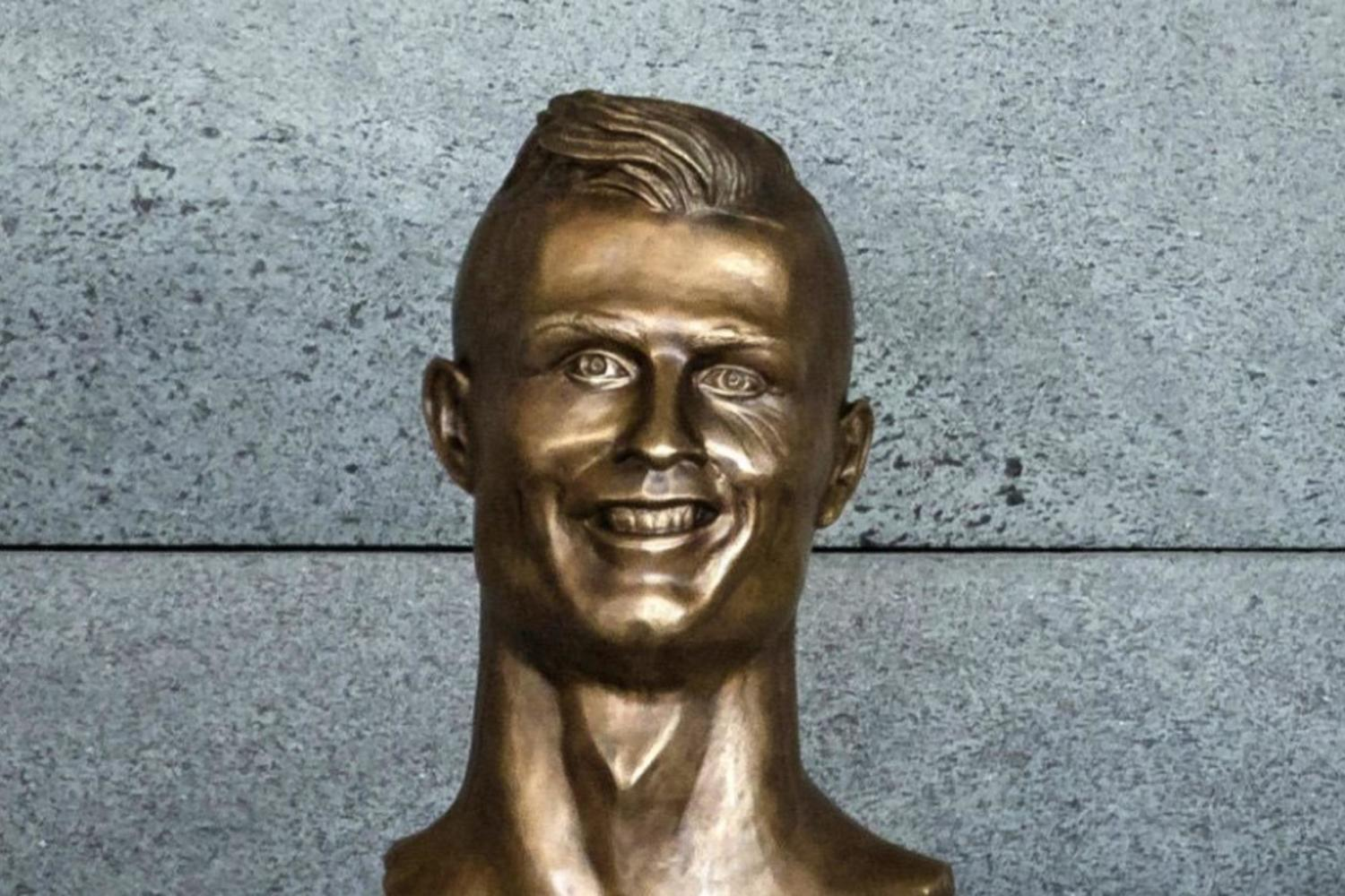 brilliantly awful Ronaldo statue in Madeira