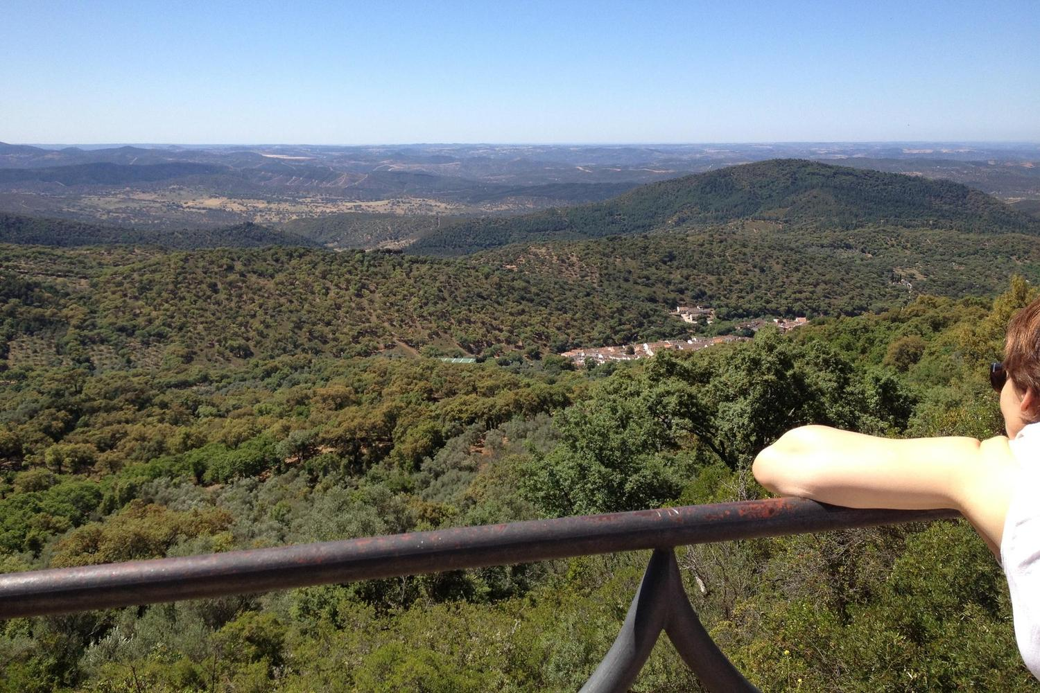 Looking out over the Aracena hills