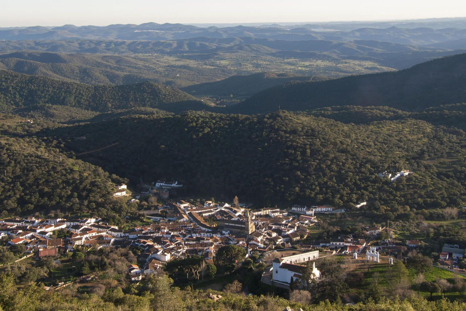 High views over Alajar from the top of the Arias Montano hill