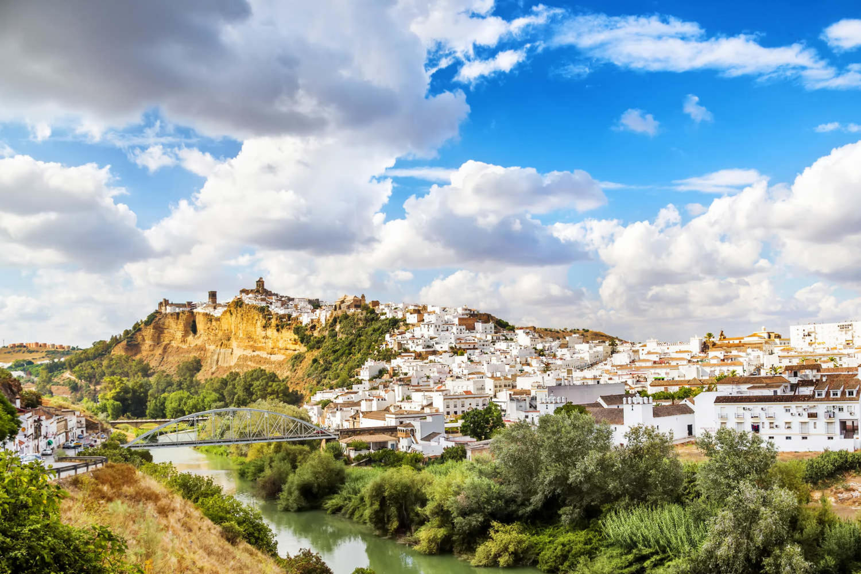 Arcos de la frontera beautiful town located in the Sierra de Grazalema