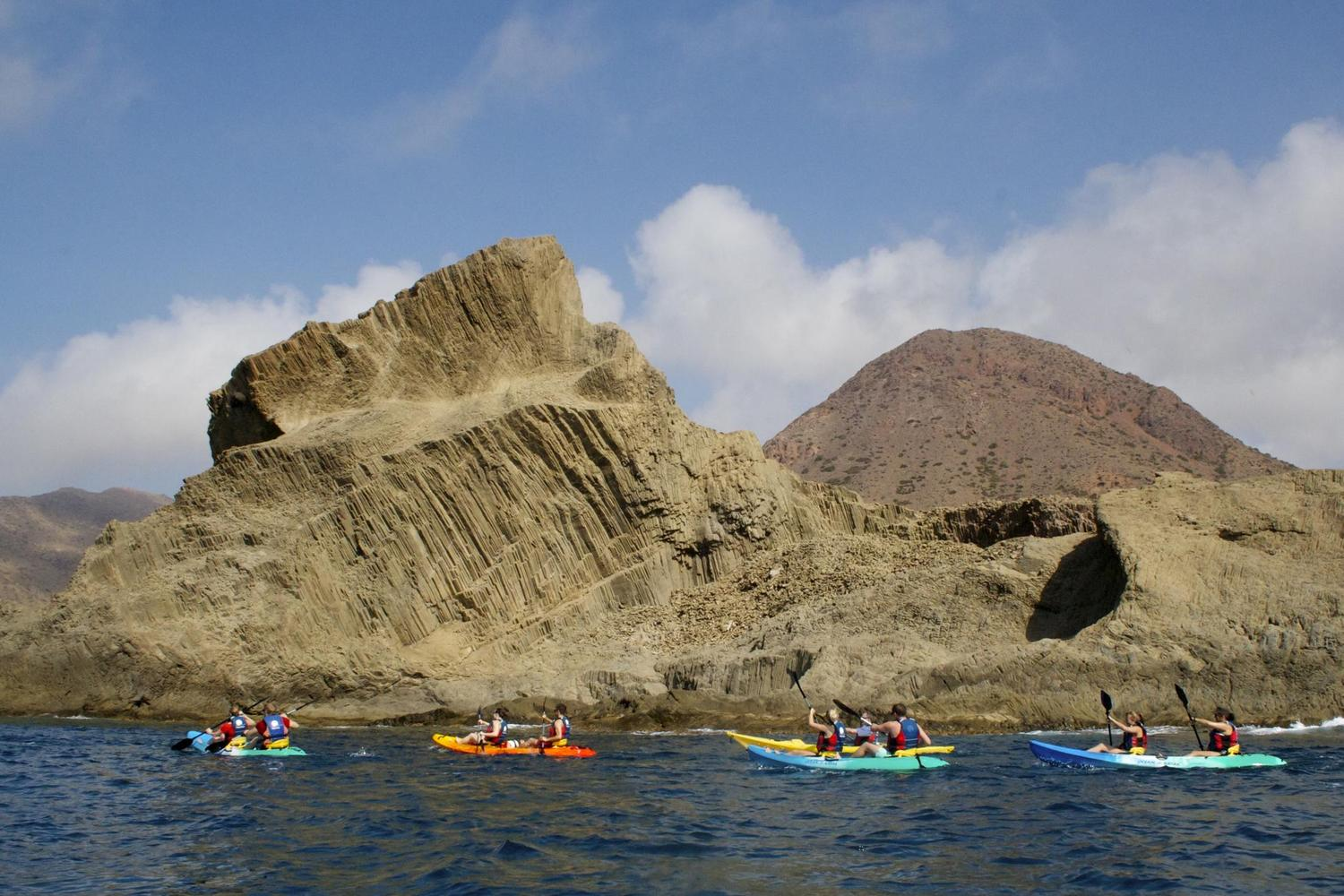 Kayaking around the cape of Cabo de Gata