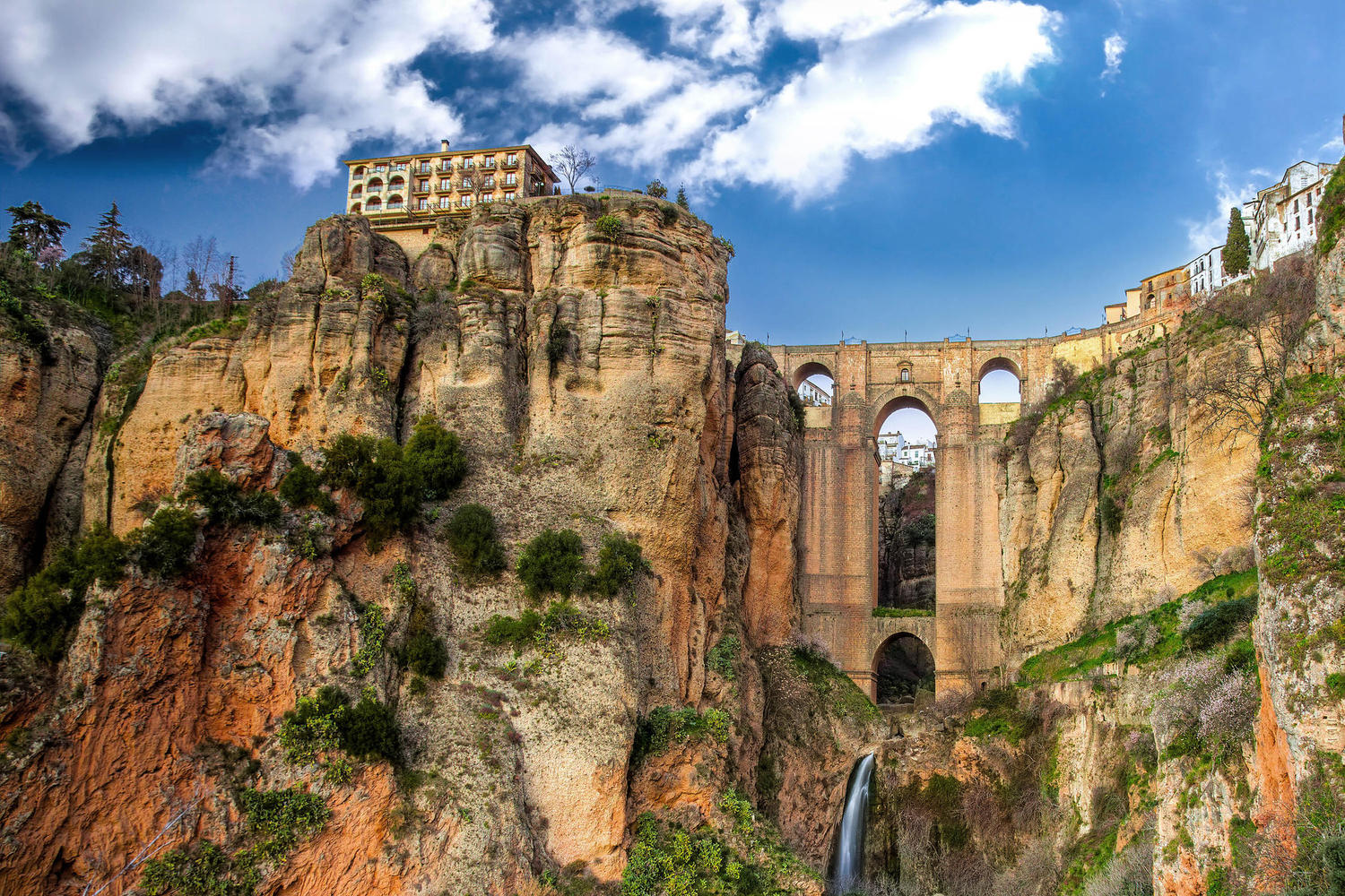 The famous cliffs of Ronda in Malaga province.