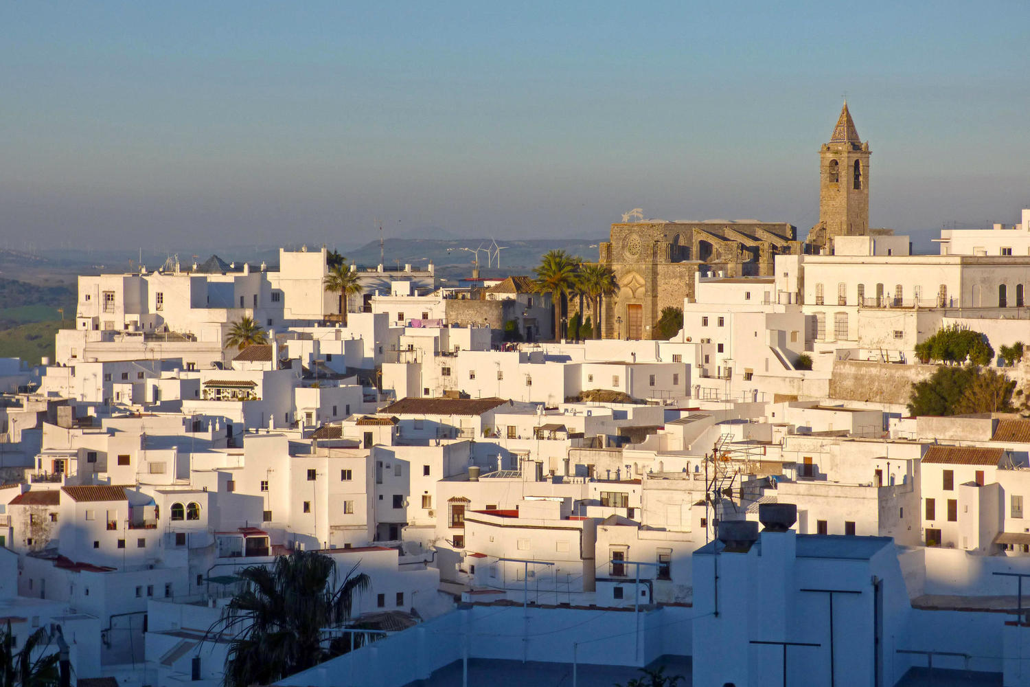 Vejer skyline at sunset, Cadiz