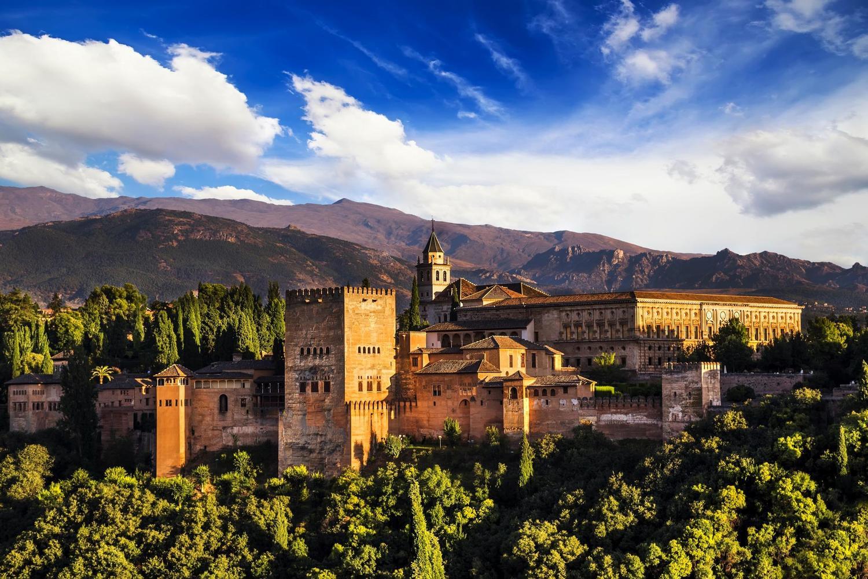 The stunning Alhambra palace, highlight of Granada