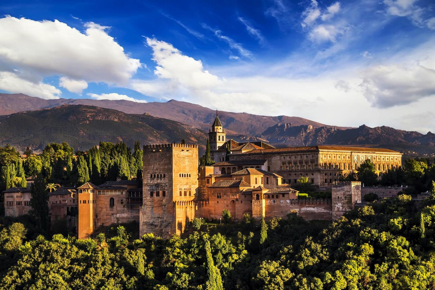 The stunning Alhambra palace, highlight of Granada