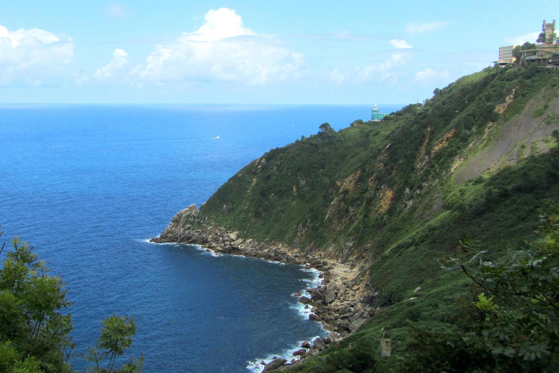 The rough Cantabrian coast just outside San Sebastian