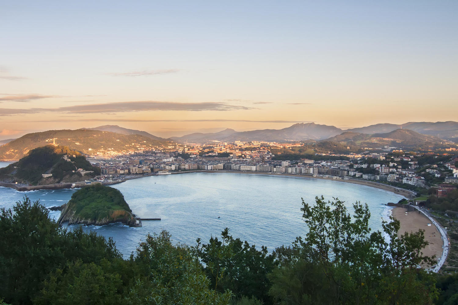 Panoramic view of San Sebastian from Ulia