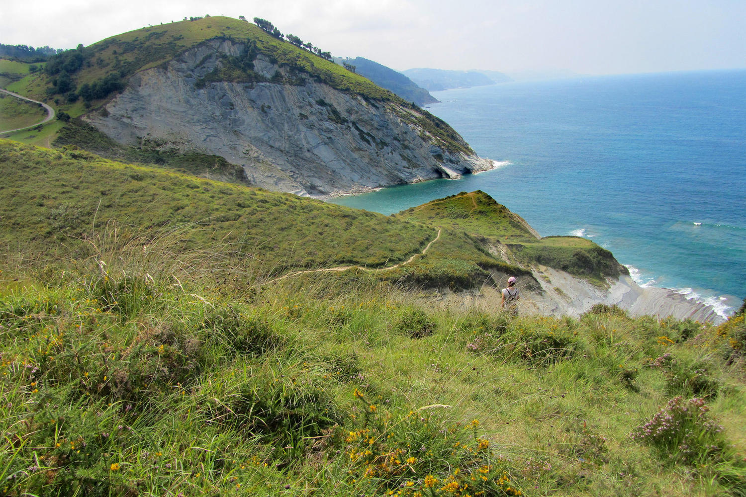 Coastal landscape between Zarautz and Deba