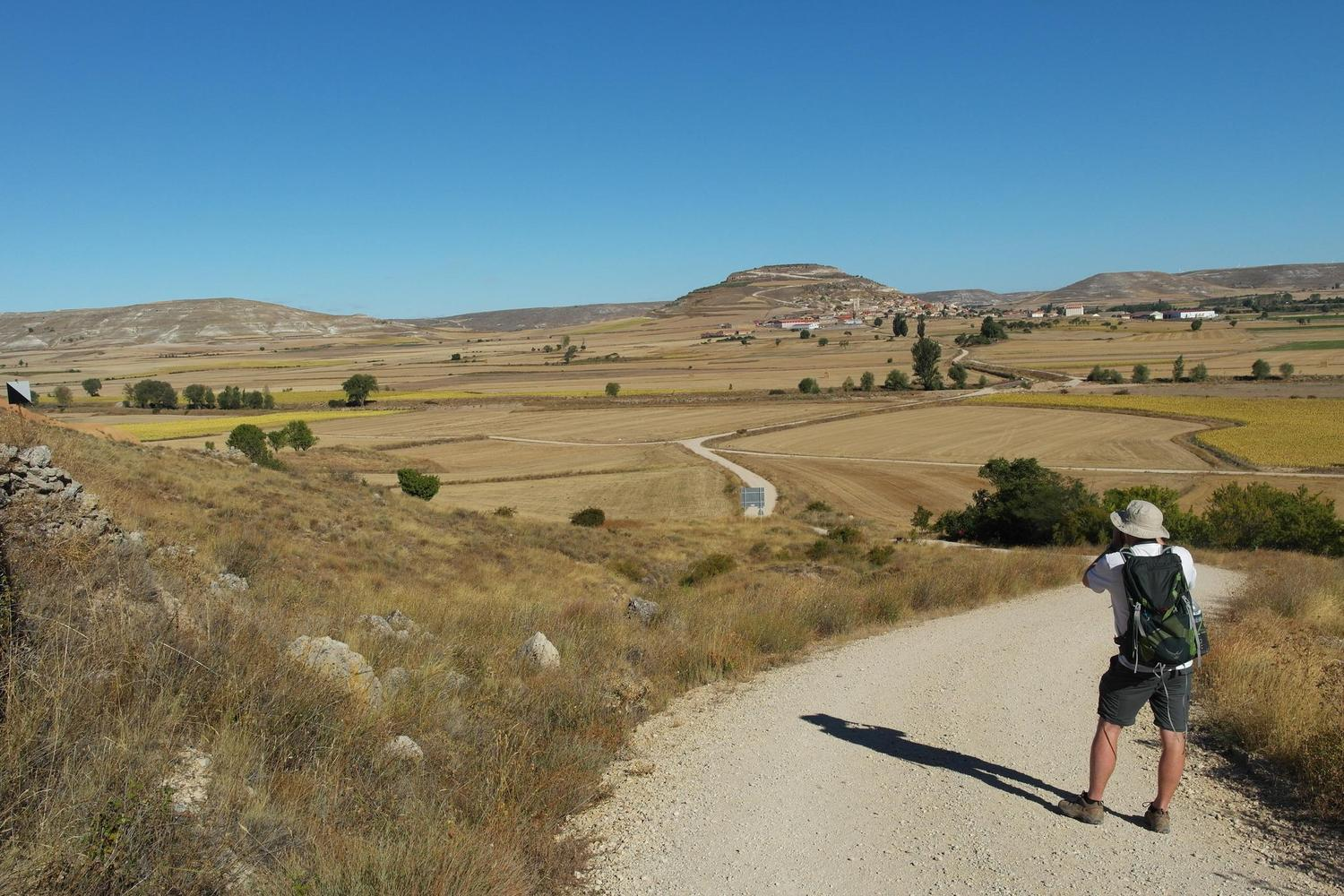 Looking out across the Castillian plains, Camino de Santiago