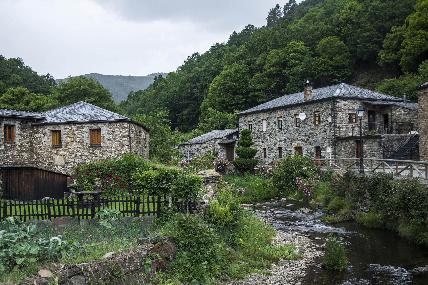 Pretty villages of Oscos in Galicia